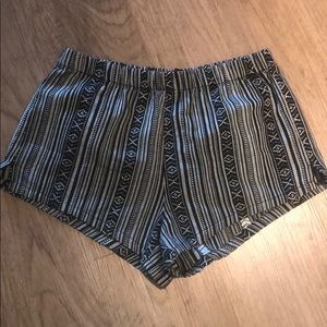 Forever 21 southwestern black and white shorts